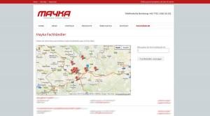 Mayka Fachhändler Finder - finden Sie Ihren Mayka Fachhändler einfach und effizient